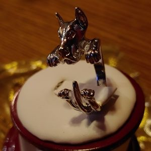 Great Dane silver open ring one size fits most
